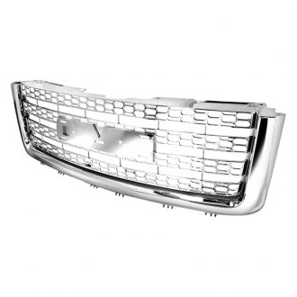 Spec-D® - 1-Pc Chrome Oval Punch CNC Machined Main Grille