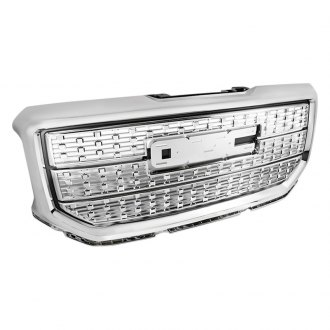 Spec-D® - 1-Pc Chrome Square Mesh Main Grille