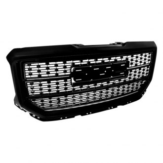 Spec-D® - 1-Pc Gloss Black Square Mesh Main Grille
