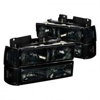 Spec-D® - Chrome/Smoke Euro Headlights with Corner and Bumper Lights