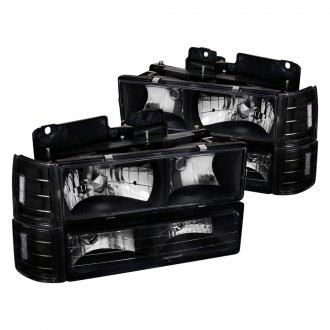 Spec-D® - Black Euro Headlights with Corner and Bumper Lights