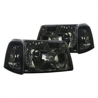 Spec-D® - Chrome/Smoke Euro Headlights with Corner Lights