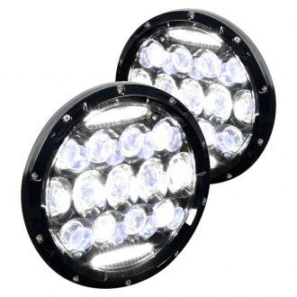 "Spec-D® - 7"" Round Black Projector LED Headlights"
