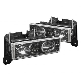 Spec-D® - Black LED Halo Euro Headlights