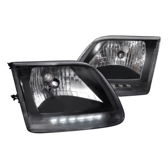 Spec-D® - Black Euro Headlights with Parking LEDs