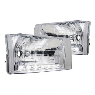 Spec-D® - Chrome Euro Headlights with Parking LEDs