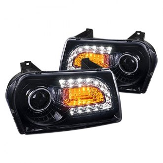 Spec-D® - Black/Smoke Projector Headlights with LED Turn Signal and DRL