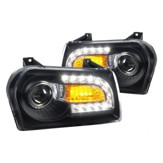 Spec-D® - Black Projector Headlights with LED Turn Signal and DRL