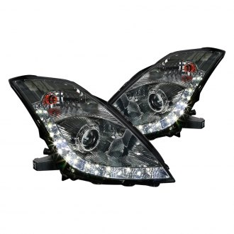Spec-D® - Chrome/Smoke Projector Headlights with LED DRL