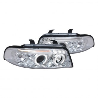 Spec-D® - Chrome Halo Projector Headlights with Parking LEDs