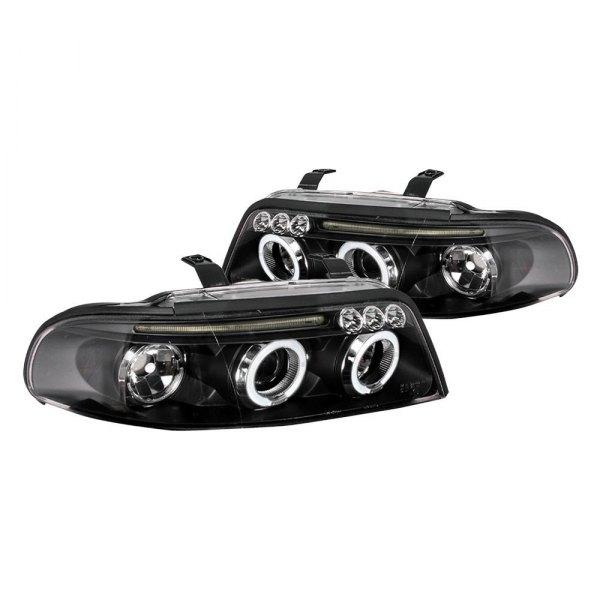 Spec-D Tuning LHP-A400JM-TM Black Projector Headlight Halo Led