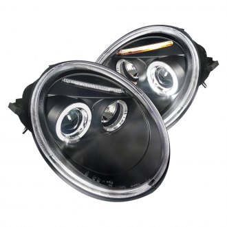 Spec D Black Halo Projector Headlights With Parking Leds