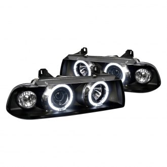 Spec-D® - Black/Smoke LED Halo Projector Headlights