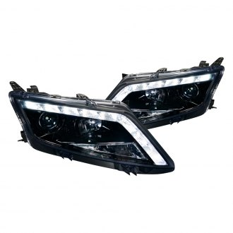 Spec-D® - Black/Smoke Projector Headlights with LED DRL