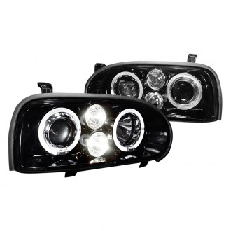 Spec-D® - Black/Smoke LED Dual Halo Projector Headlights