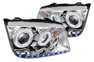 Spec-D® - R8 Style Chrome Dual Halo Projector LED Headlights