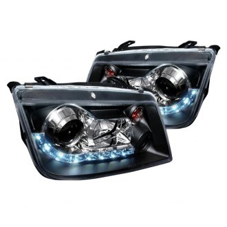 Spec-D® - R8 Style Black Projector LED Headlights
