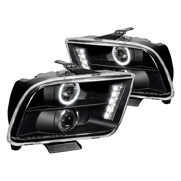 Spec-D® - Black Halo Projector Headlights with Parking LEDs