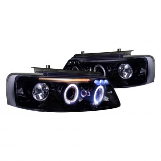 Spec-D® - Black/Smoke Halo Projector Headlights with Parking LEDs