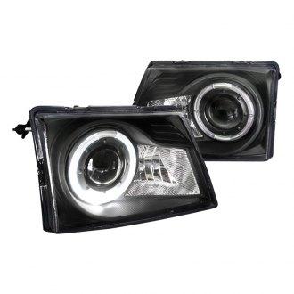 Spec D Black Led Halo Projector Headlights