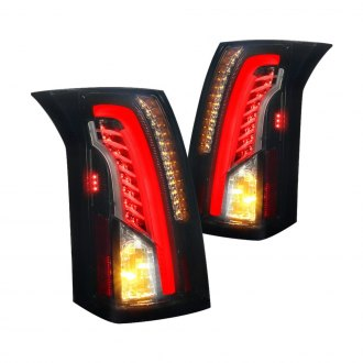 Spec-D® - Gloss Black/Smoke Fiber Optic LED Tail Lights
