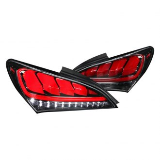 Spec-D® - Gloss Black Sequential Fiber Optic LED Tail Lights