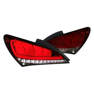 Spec-D® - Chrome Smoke/Red Sequential Fiber Optic LED Tail Lights