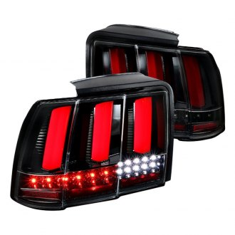 Spec D Gloss Black Red Sequential Fiber Optic Led Tail Lights