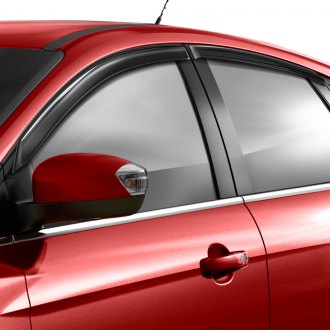 Spec-D® - Tape-On Smoke Front and Rear Window Visors