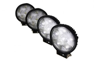"Spec-D® - 4.5"" Black Round 6 LED Work Lights Kit"