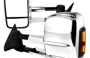Spec-D® - Chrome Towing Mirrors LED Turn Signal Lights