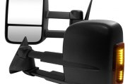 Spec-D® - Black Towing Mirrors with LED Turn Signal Lights