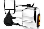Spec-D® - Chrome Towing Mirrors with LED Turn Signal Lights