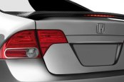 Spec-D® - Carbon Fiber Spoiler with LED Brake Light