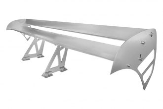 Spec-D® - 003 Style Double Deck Silver Rear Spoiler