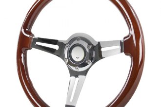 Spec-D® - 340mm Classic Style Wooden Steering Wheel