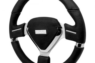 Spec-D® - Millenium EVO Style Black Leather Steering Wheel