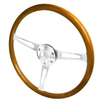 Spec-D® - 330mm Wooden Steering Wheel