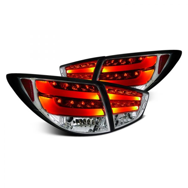 Spec-D® - Chrome Fiber Optic LED Tail Lights