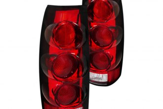 Spec-D® - Red/Clear Euro Tail Lights 3D Style