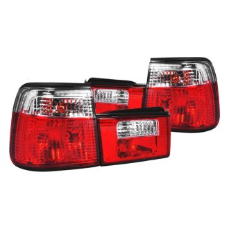 Spec-D® - Chrome/Red OEM Style Tail Lights