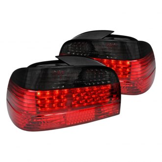 Spec-D® - Chrome Red/Smoke Fiber Optic LED Tail Lights