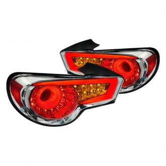 Spec-D® - Chrome Amber/Red Fiber Optic LED Tail Lights