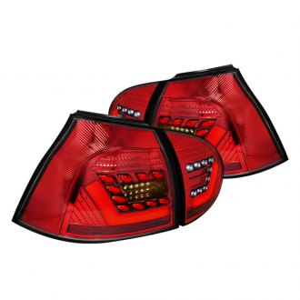 Spec-D® - Chrome/Red Fiber Optic LED Tail Lights