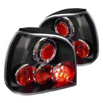 Spec-D® - Black Euro Tail Lights with LEDs