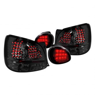 Spec-D® - Chrome/Smoke LED Tail Lights with Trunk Lights