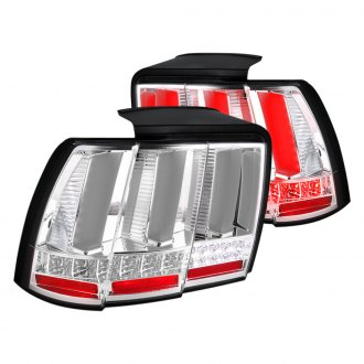 Spec-D® - Chrome Fiber Optic LED Sequential Tail Lights