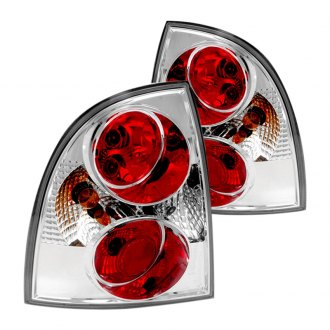 Spec-D® - Chrome/Red Euro Tail Lights