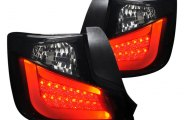Spec-D® - Black/Smoke Fiber Optic LED Tail Lights