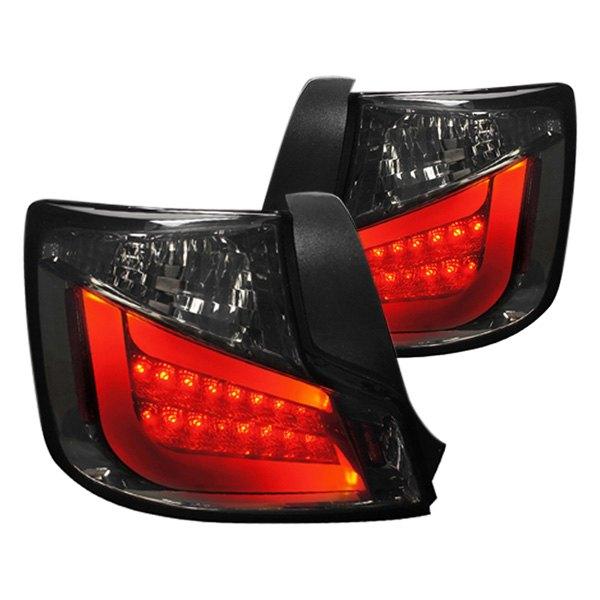 tc10gled tm scion tc 2011 chrome smoke fiber optic led tail lights. Black Bedroom Furniture Sets. Home Design Ideas